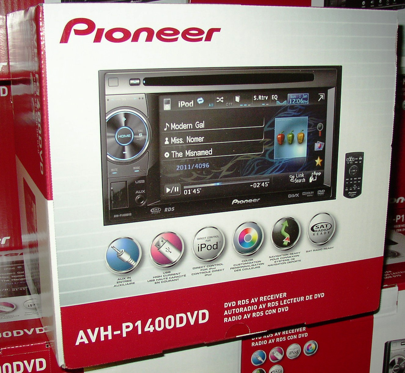 Pioneer Dvd Wiring Diagrams Pandora Harness Diagram Avh P1400dvd Cd Receiver 5 8 Lcd New Stereo
