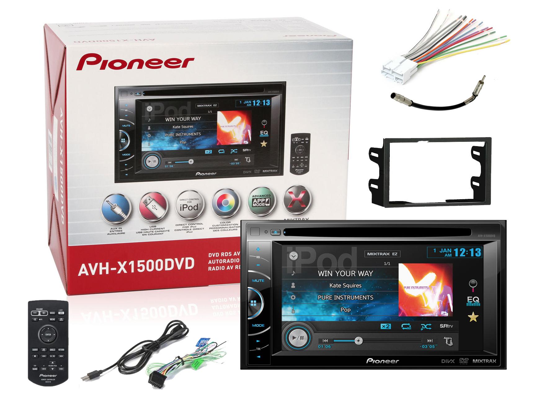 Pioneer Avh X1500dvd 6 1 034 Monitor Car Dvd Receiver New
