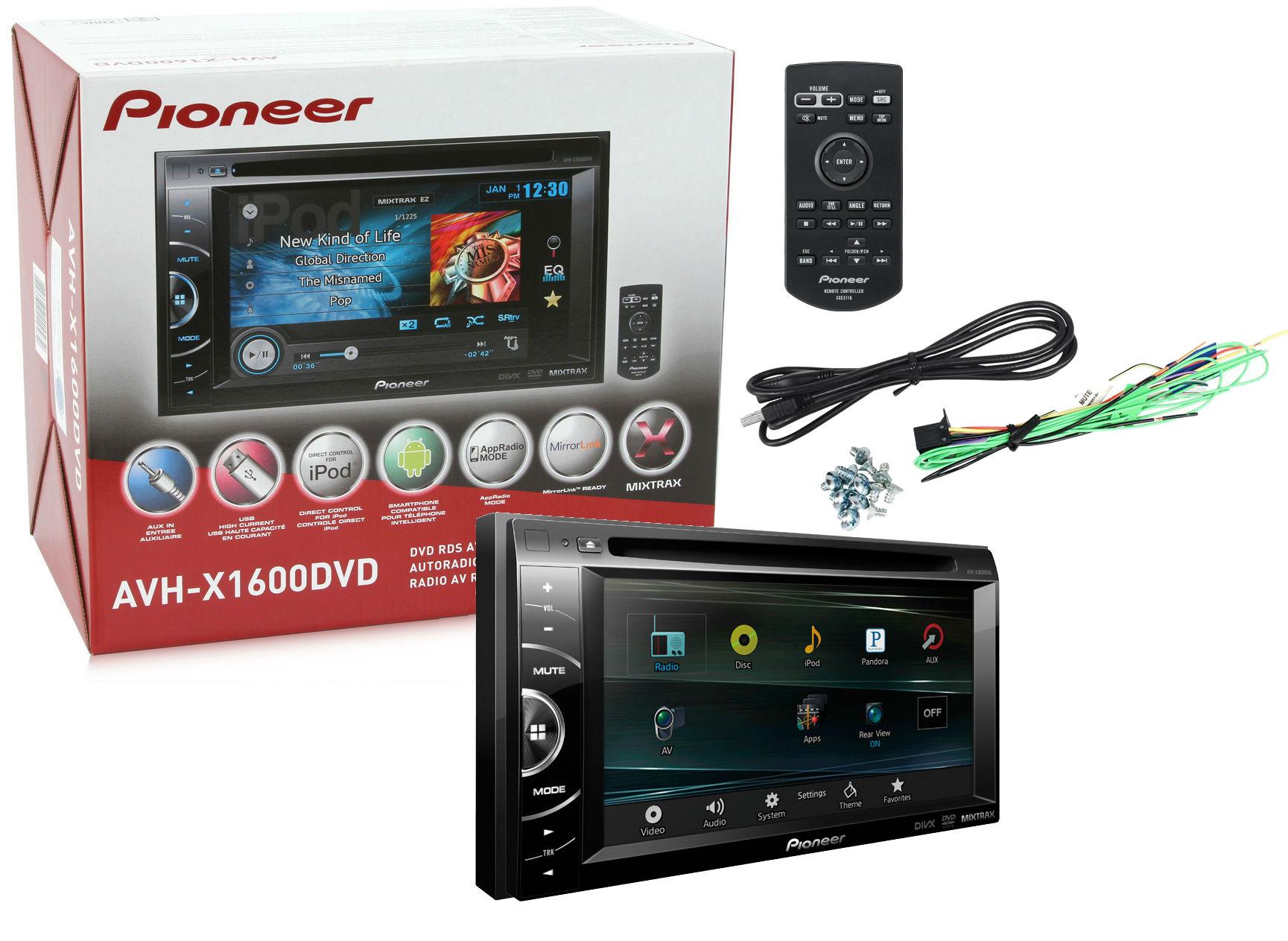 pioneer avh x1600dvd double din car 6 1 dvd mirrorlink. Black Bedroom Furniture Sets. Home Design Ideas