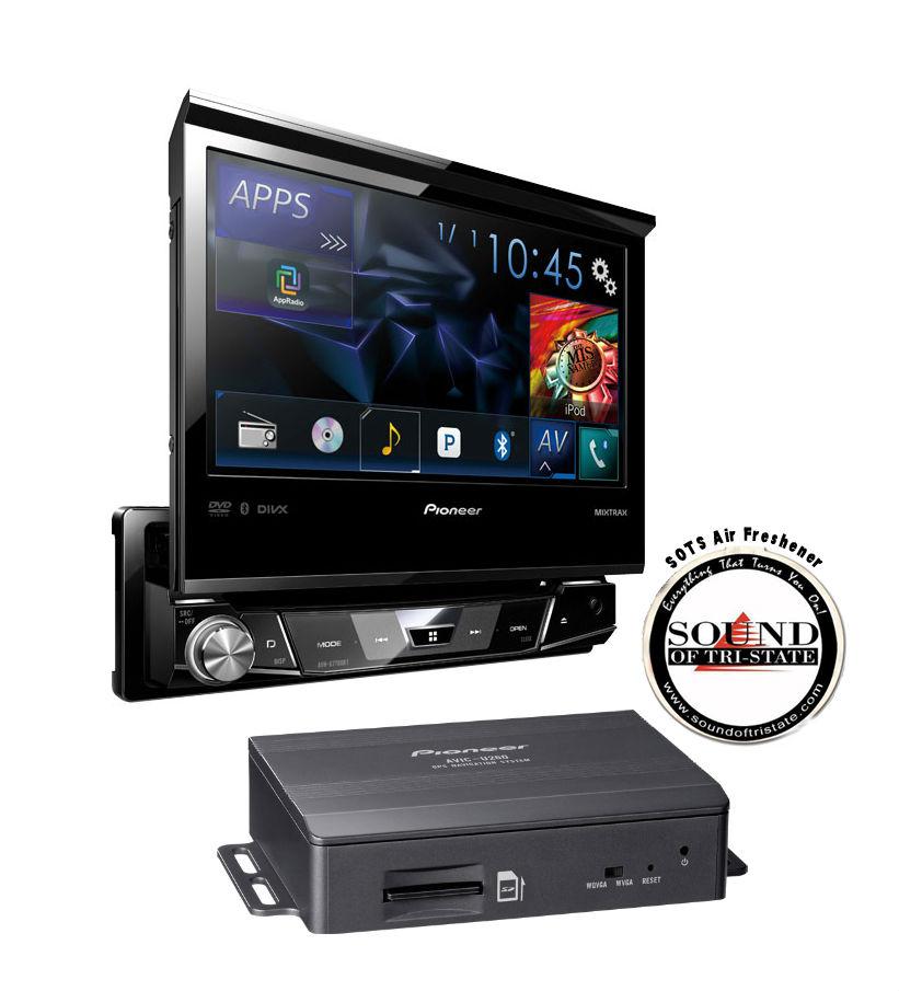 pioneer avh x7700bt 7 single din dvd receiver with avic. Black Bedroom Furniture Sets. Home Design Ideas