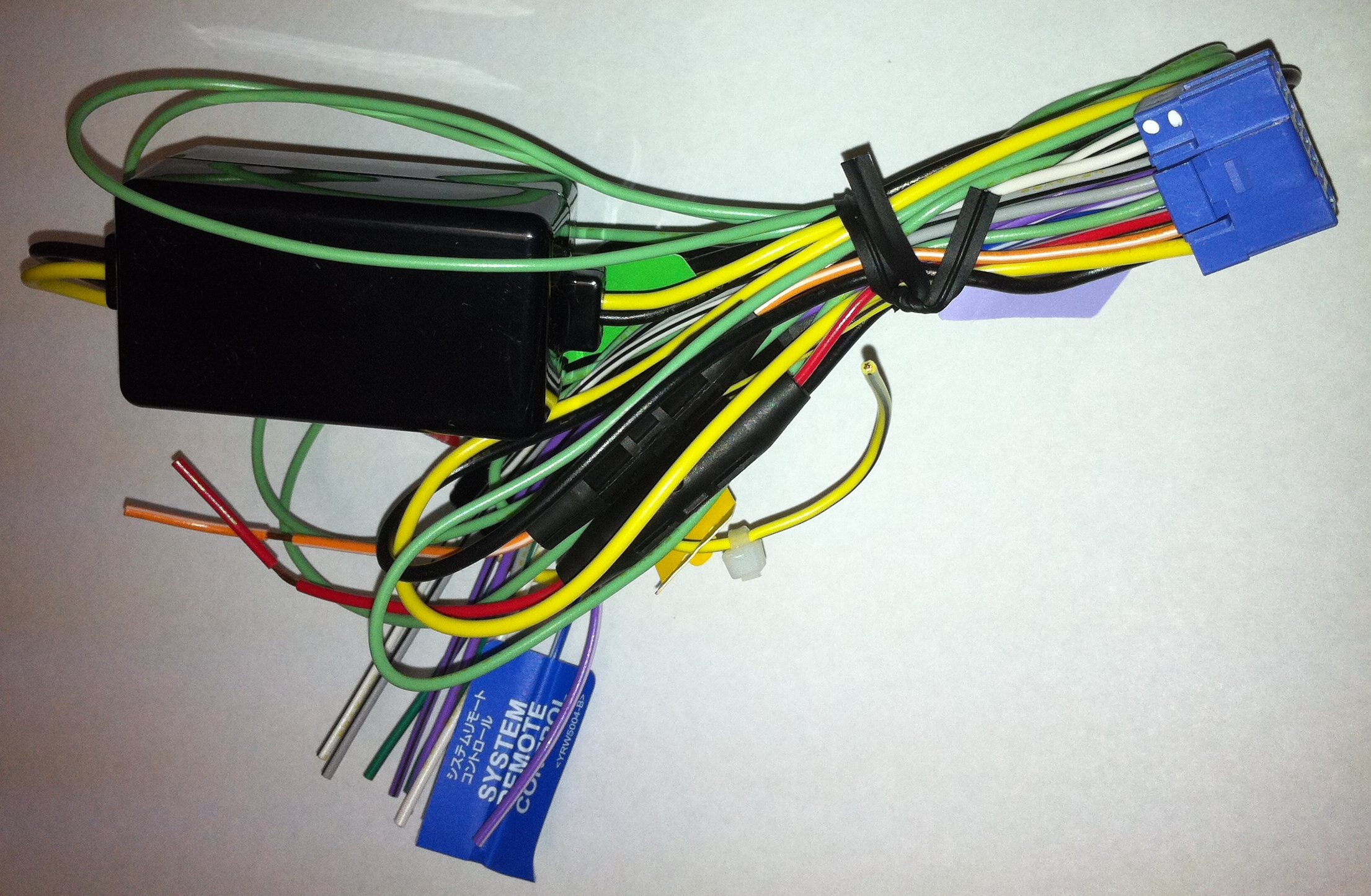 Pioneer Wire Harness Power Cord With Plug For Avh