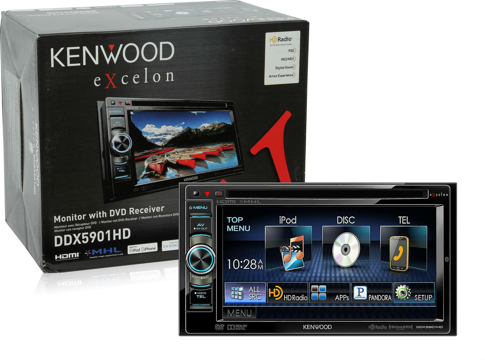 kenwood excelon ddx5901hd double din receiver w built in. Black Bedroom Furniture Sets. Home Design Ideas