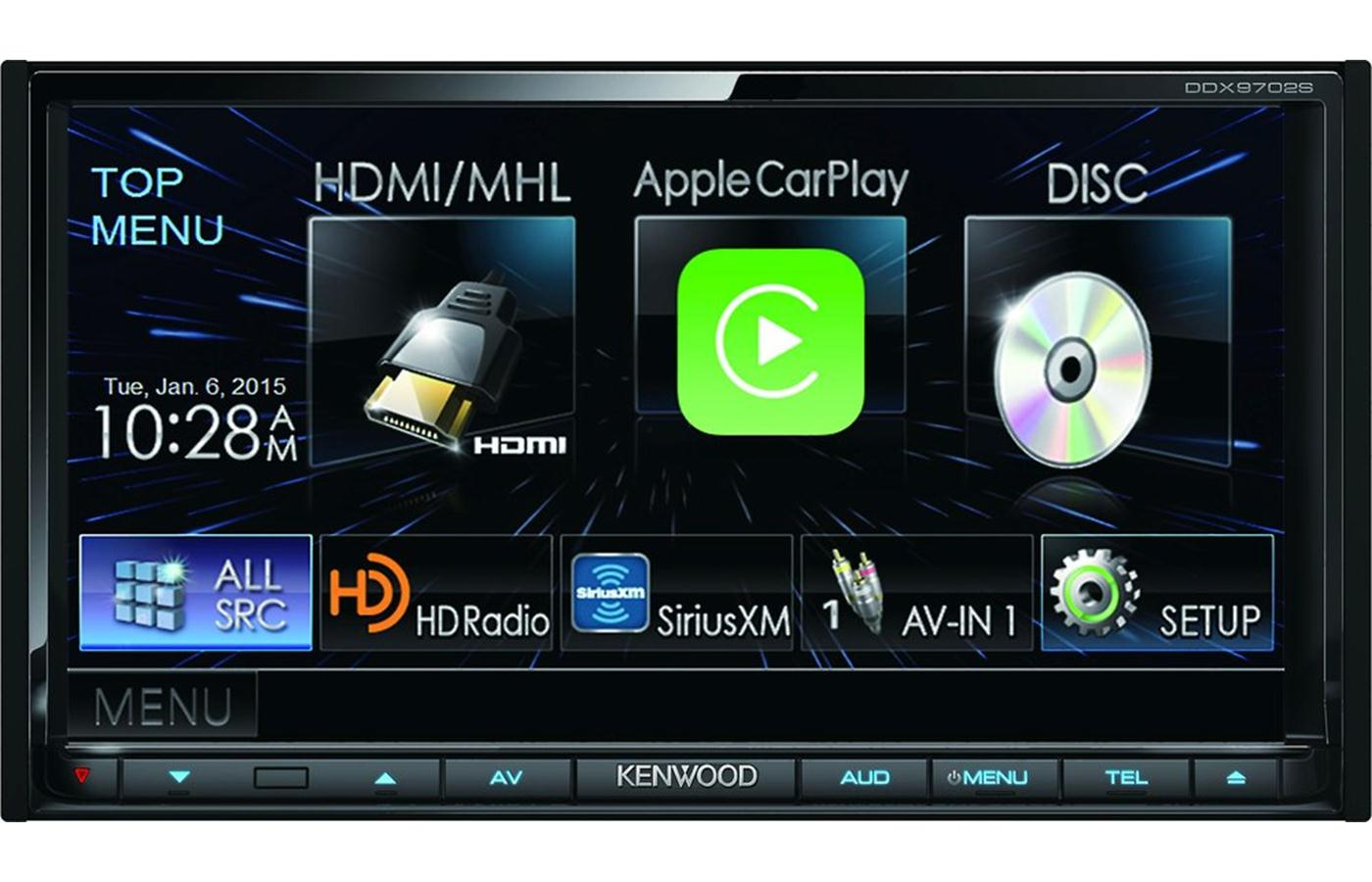 kenwood excelon ddx9702s 7 bluetooth hd dvd w android auto apple car play ebay. Black Bedroom Furniture Sets. Home Design Ideas