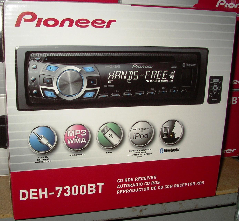 pioneer deh 7300bt play music through bluetooth