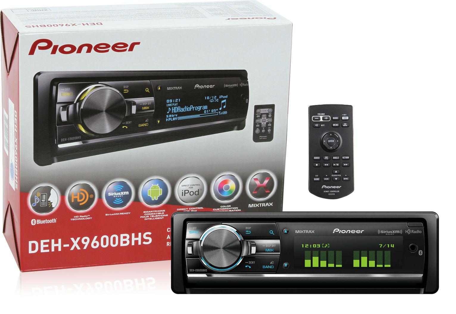 pioneer deh x9600bhs cd receiver bluetooth hd radio. Black Bedroom Furniture Sets. Home Design Ideas
