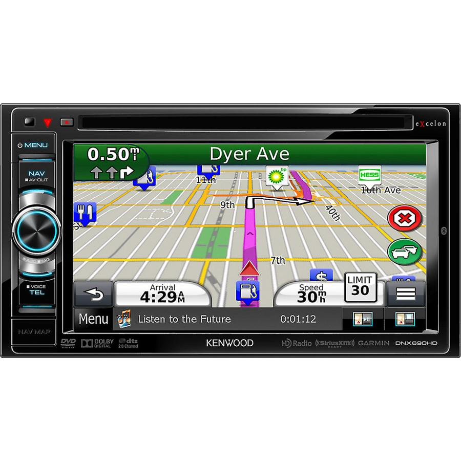 "Kenwood Remanufactured Kenwood DNX690HD Navigation Receiver 6.1"" DVD Built in Bluetooth DNX690HDB at Sears.com"