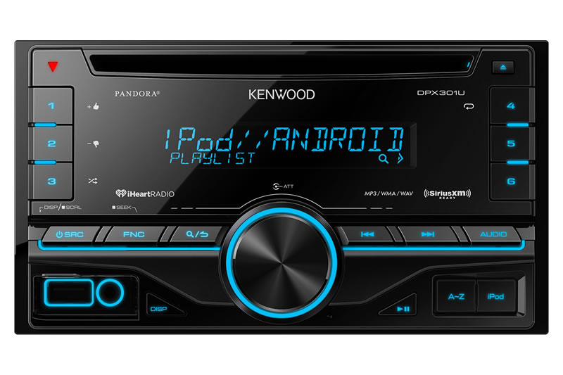 Kenwood Double Din Cd Receiver With Front Aux Usb And Remote New Dpx301u