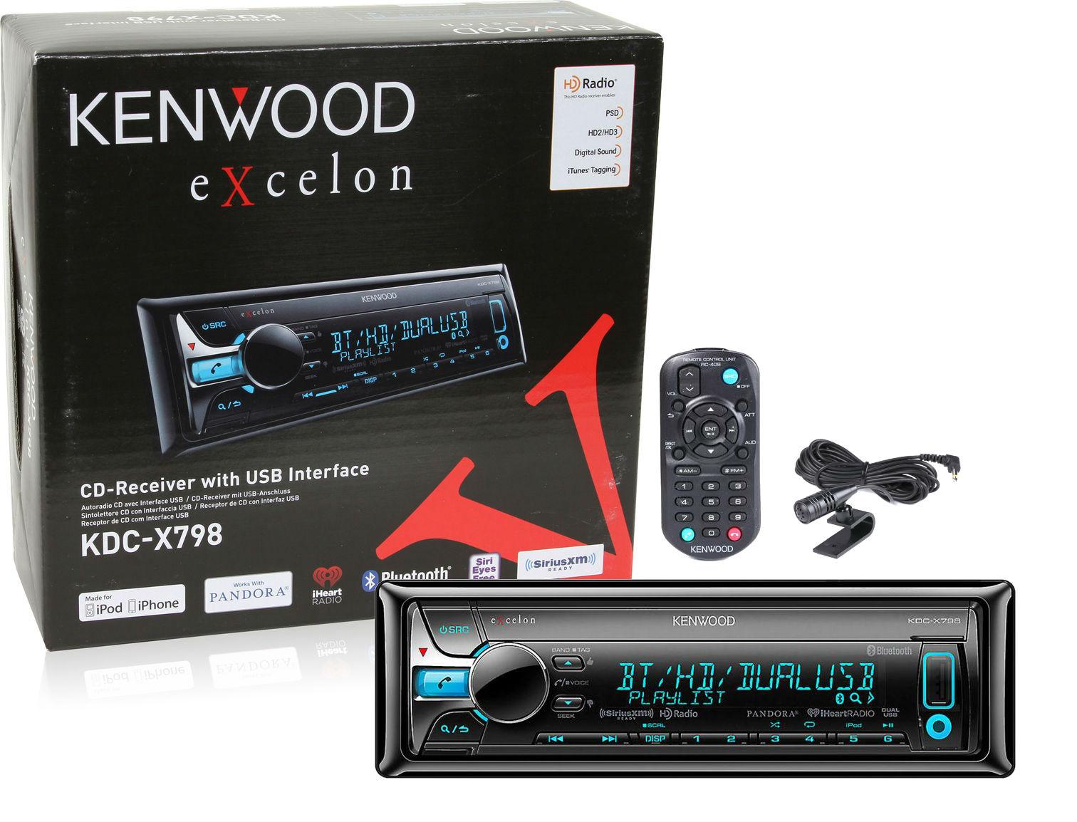Kenwood Kdc X798 Car Cd Receiver Kdcx798 Bluetooth Pandora