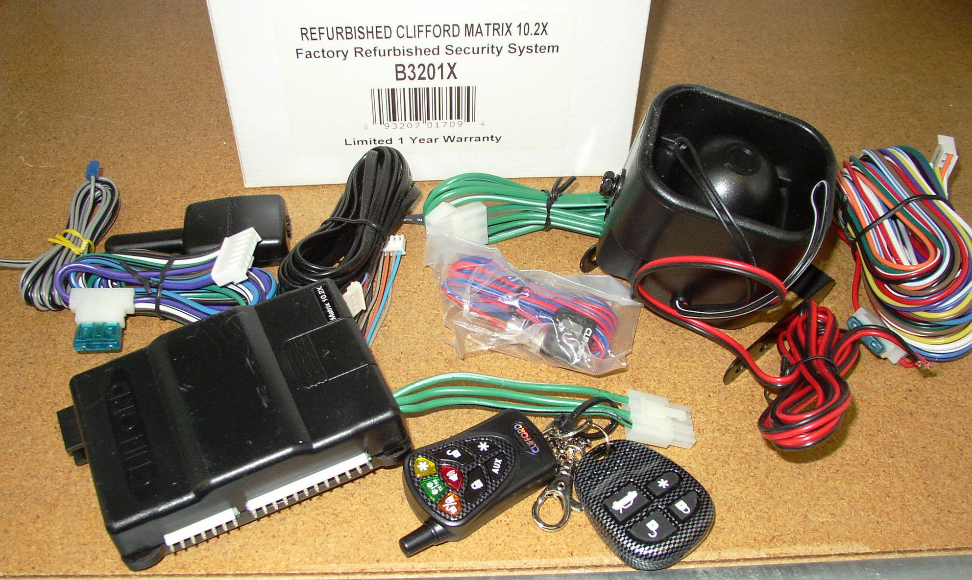 clifford matrix 10 2x 2 way car security system. Black Bedroom Furniture Sets. Home Design Ideas