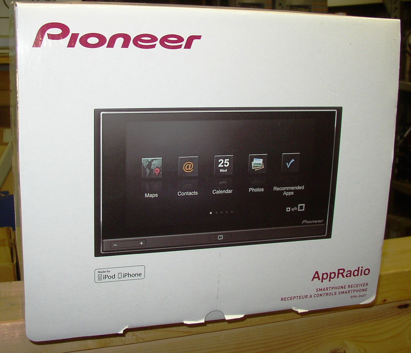 pioneer sph da01 appradio in dash double din app radio. Black Bedroom Furniture Sets. Home Design Ideas