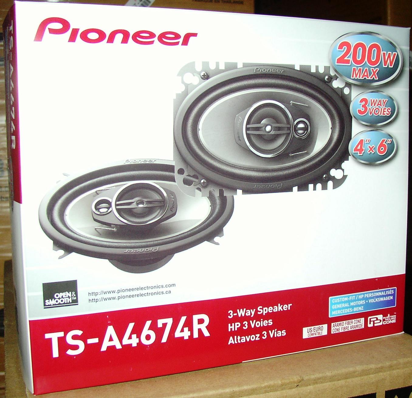 Pioneer 4xcar speakers