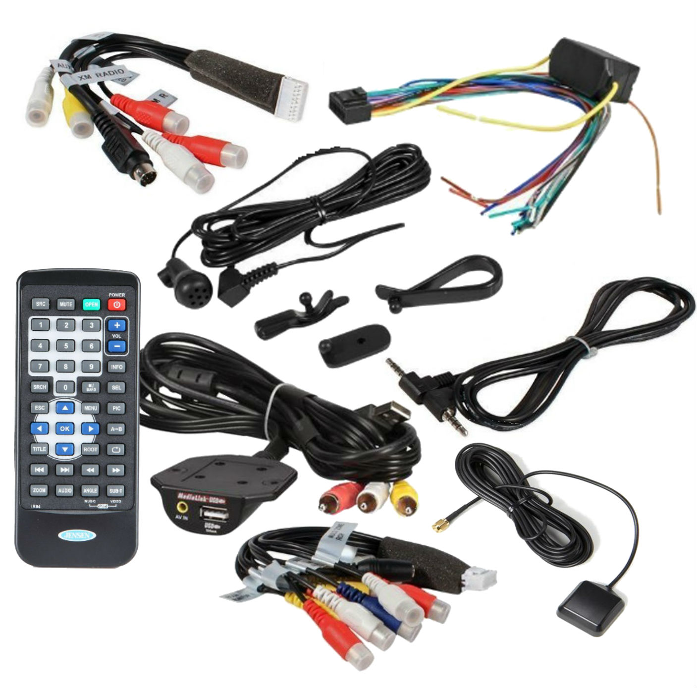 jensen vmbt wire harness rca cable remote aux plug gps antenna jensen wire harness rca cable remote aux plug gps antenna media link for vm9424bt package
