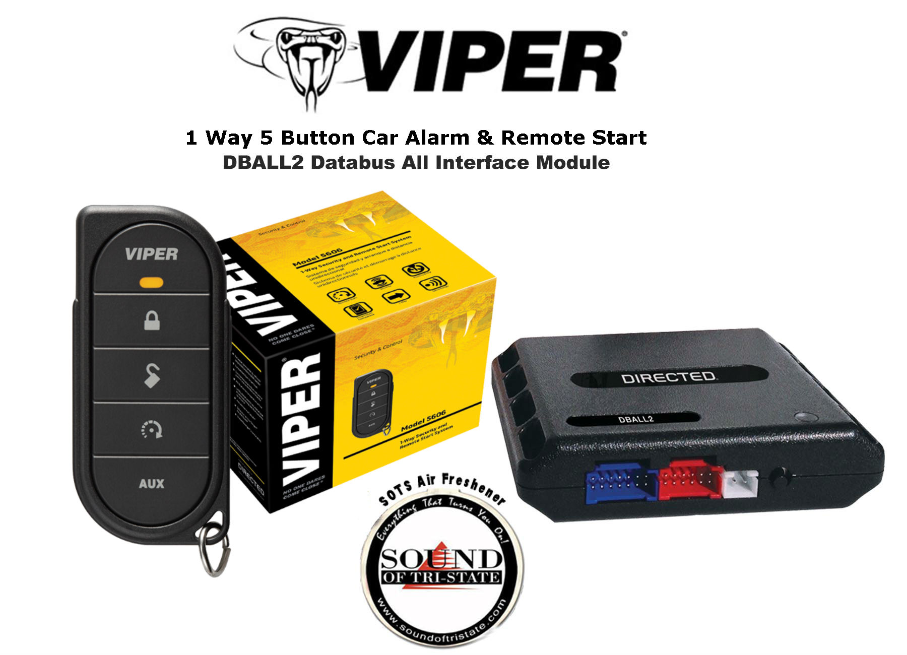 viper 5606v 1 way car alarm remote start system w xpresskit bypass module dball ebay. Black Bedroom Furniture Sets. Home Design Ideas