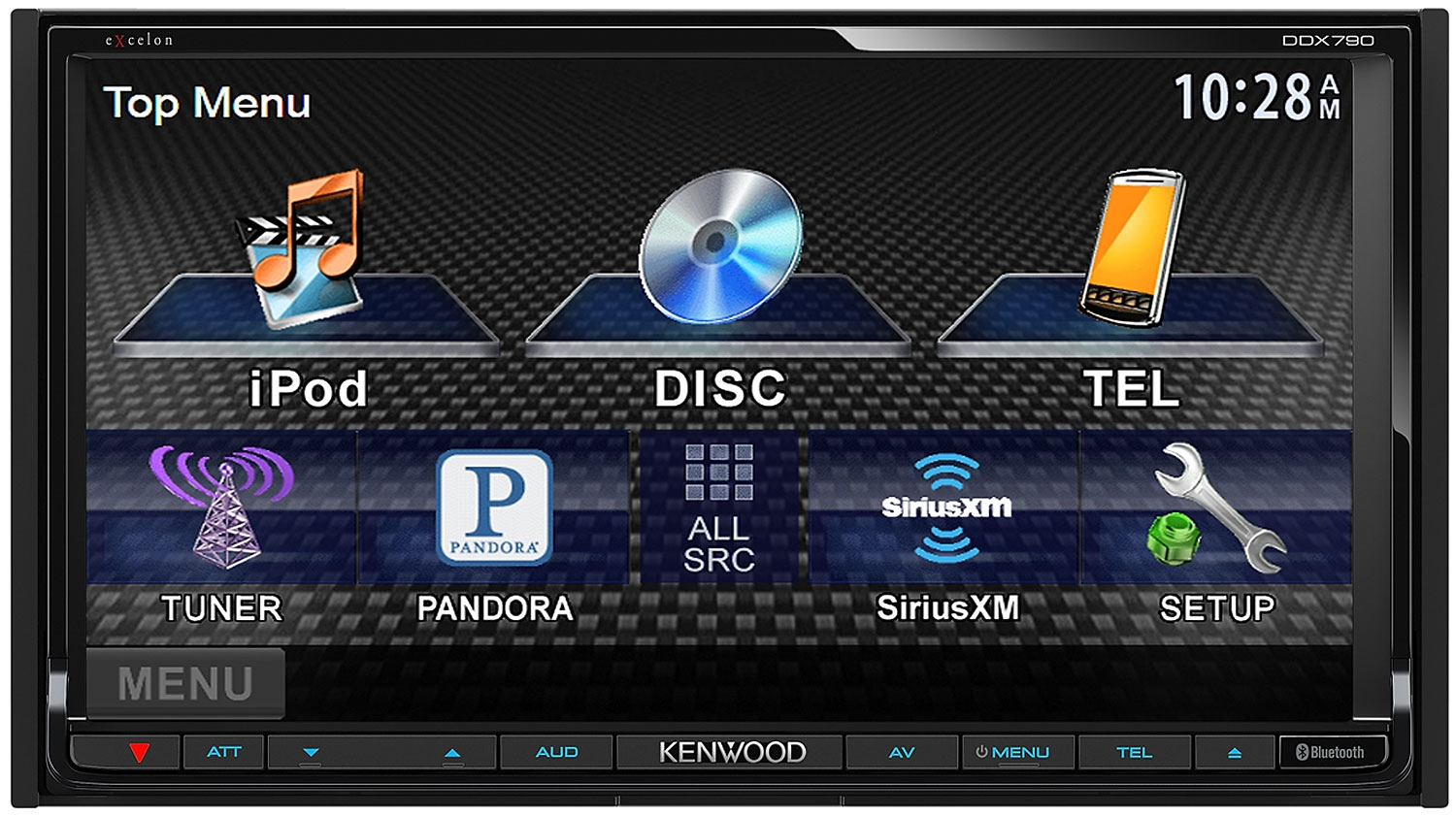 """Kenwood Double DIN Car DVD CD Receiver w 6 95"""" Monitor Bluetooth New DDX790"""