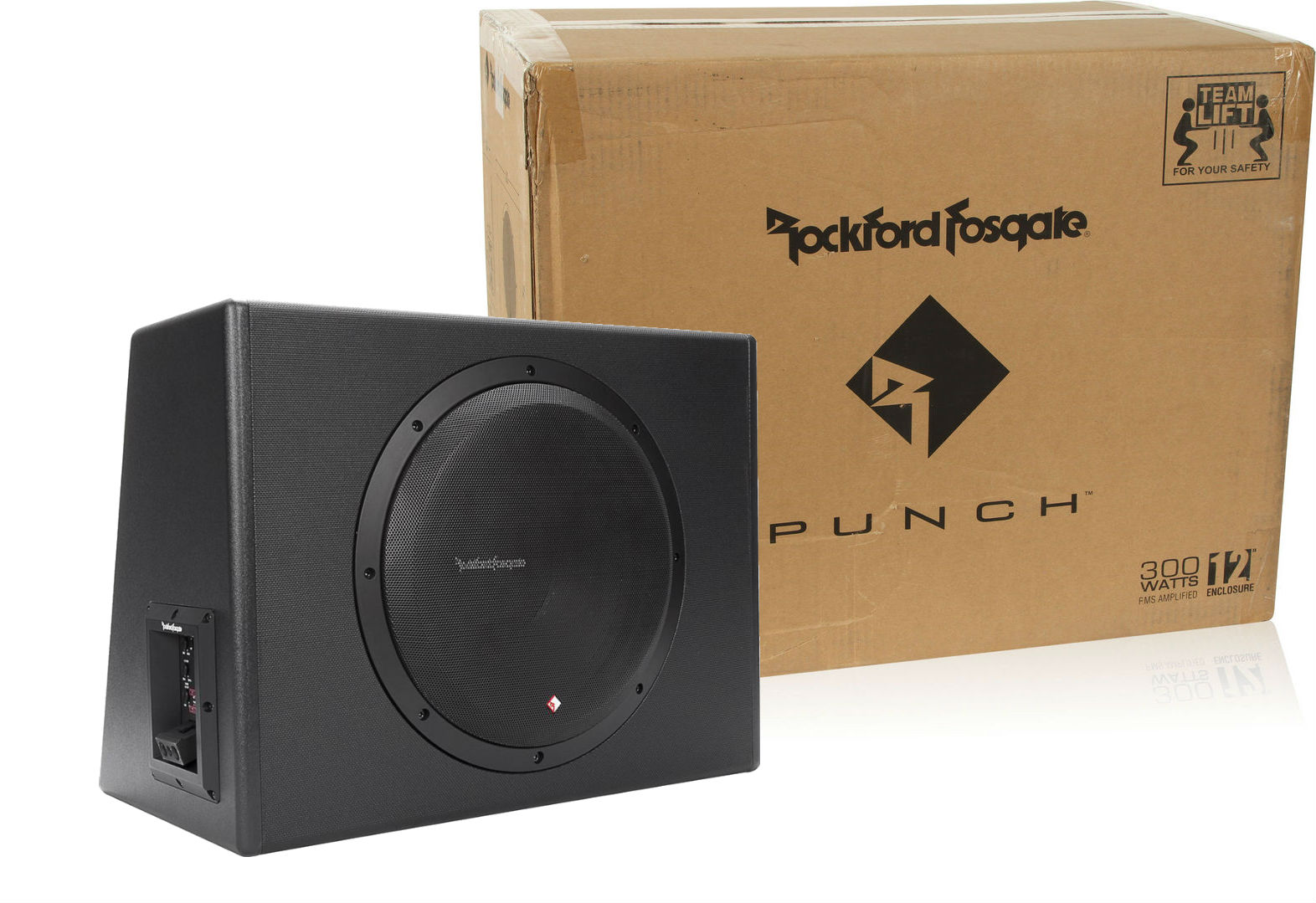 rockford fosgate p300 12 single 12 300 watt powered. Black Bedroom Furniture Sets. Home Design Ideas